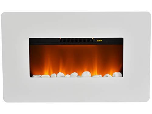 Livinxs Elektro Wand Kamin Equator mit verstellbarer Heizleistung (1000W/2000W),LED Beleuchtung, Überhitzungssschutz, tollem Flammeneffekt und praktischer Fernbedienung