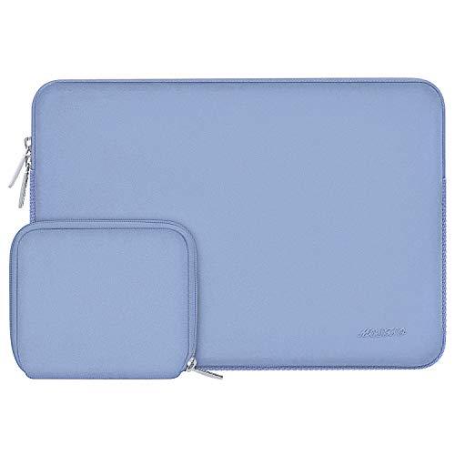 MOSISO Funda Protectora Compatible con MacBook Pro 16 A2141/15-15.6 Pulgadas MacBook Pro Retina 2012-2015/Ordenador Portátil, Bolsa Blanda de Neopreno Agua Repelente con Pequeño Caso,Azul Serenidad