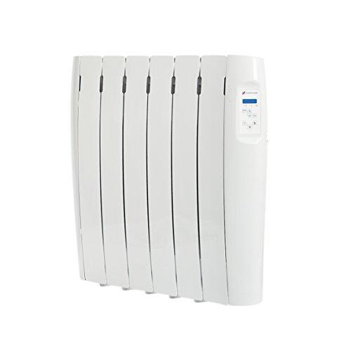 Haverland RC6M - Radiador Digital de Fluido y Bajo Consumo, 750W, Programable, Exclusivo Indicador de consumo, PantallaTemperatura Ambiente