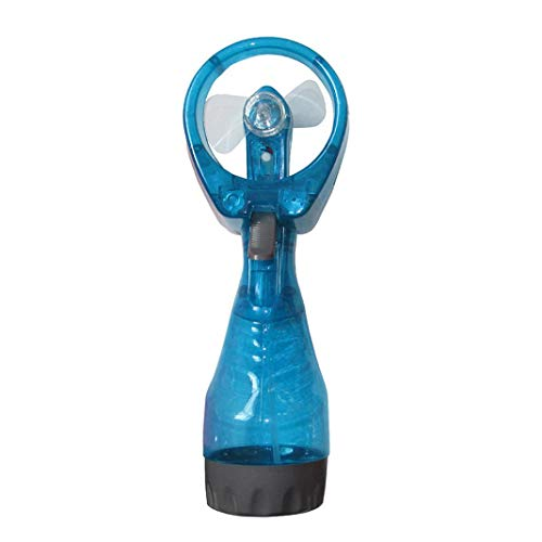 BZLine Ventilateur Portable, Refroidisseur d'air à Main avec Jet d'eau Humidificateur d'air 2 en 1 et Mini Ventilateur alimenté par Batterie Fan de Mode pour intérieur et extérieur (Bleu Ciel)