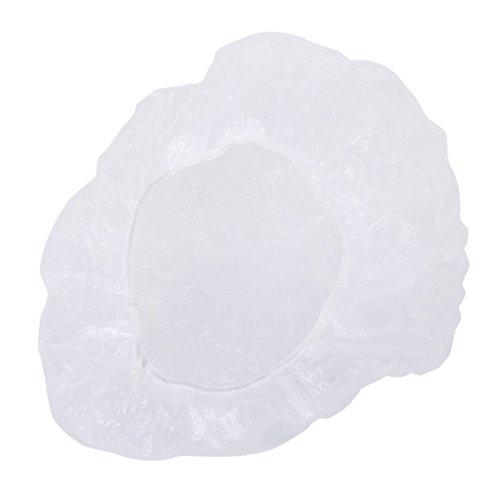 GODHL Lot de 100 bonnets de douche jetables en plastique imperméable