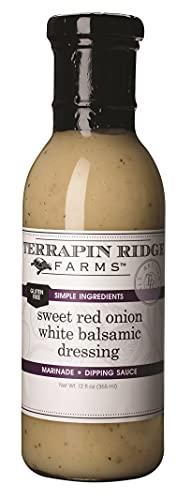 Terrapin Ridge Farms Sweet Red Onion White Balsamic Dressing – One 12 Fluid Ounce Bottle
