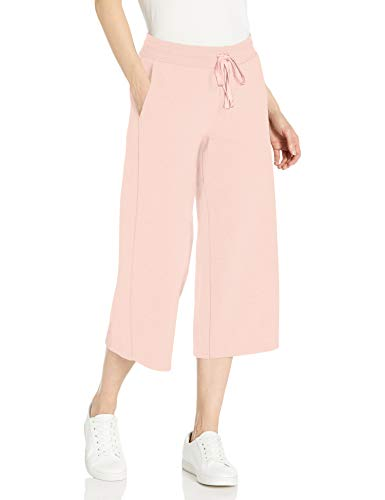 Amazon Essentials Women's French Terry Fleece Wide-Leg Crop Sweatpant, Light Pink, X-Large