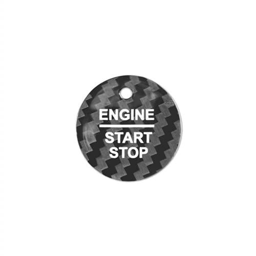 Ninuypoy Botones de Interruptor de Encendido y Apagado de Motor de Coche, Cubierta sin Llave, para Ford Everest Mondeo Ecoboost Escort F150 Explorer Focus Edge