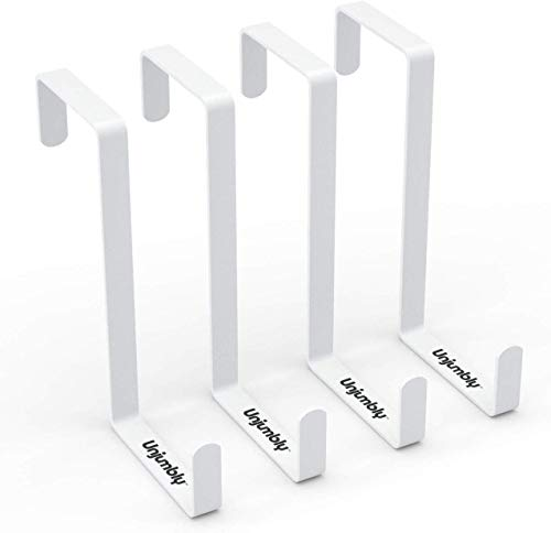 Unjumbly Over The Door Hook- 4 Pack Sturdy Metal Over