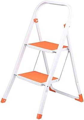 YZjk Escalera de Mano, 2 Pasos Escalera de Mano portátil Escalera Plegable para el hogar Plancha extraíble (Color: Naranja): Amazon.es: Hogar