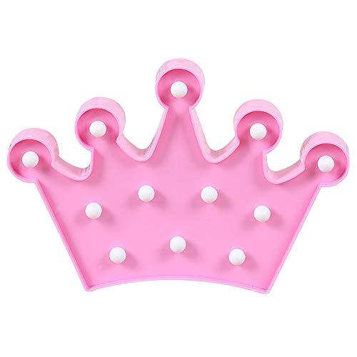 Preisvergleich Produktbild Led Krone Nachtlicht. Kinder Nachttisch Night,  Light Deko für Geschenk für Kinder Hauptdekoration (Pink)