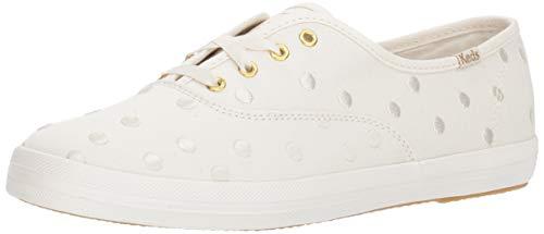 Keds Women's x Kate Spade New York Dancing Dot Champion Sneakers, Cream, 8 M US