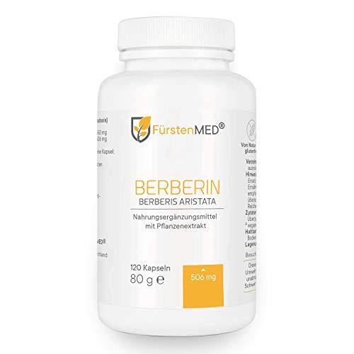 FürstenMED® Berberin Kapseln - Hochdosiert 506mg Berberin HCL - Vegan - aus Deutschland ohne Zusatzstoffe