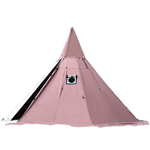 WINTENT 7.8FT/240CM 4 Season Teepee Tent with Stove Jack (Brown, with mesh Tent)