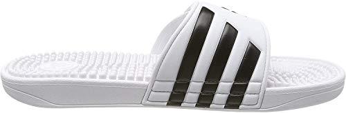 adidas Adissage, Unisex-Erwachsene Dusch- & Badeschuhe, Weiß (Footwear White/Core Black/Footwear White 0), 40.5 EU (7 UK)