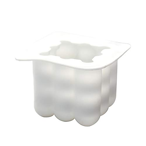 1pc DIY bougies Moule 3D Cube Boule silicone pour Artesanat Ornements Fondant Bougie parfumée soja cire à la main Savon