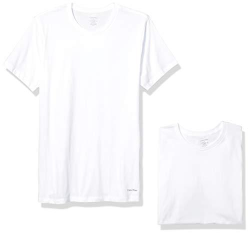 Calvin Klein Men's Cotton Classics Multipack Crew Neck T-Shirts, White (5 Pack), L