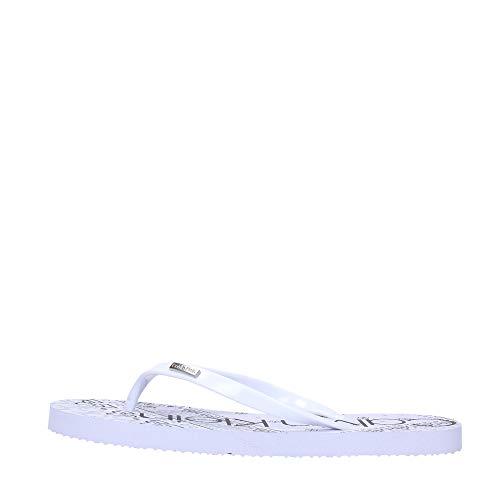 Calvin Klein Jeans E8853 - Chanclas para mujer, color Blanco, talla 37 EU