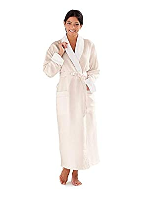 Boca Terry Women's and Men's Robe, Luxury Microfiber Eggshell Bathrobe, One Size Fits All from BOCA BT TERRY