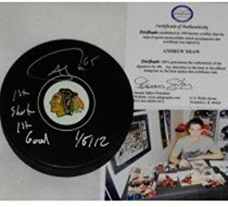 chicago blackhawks signed pucks