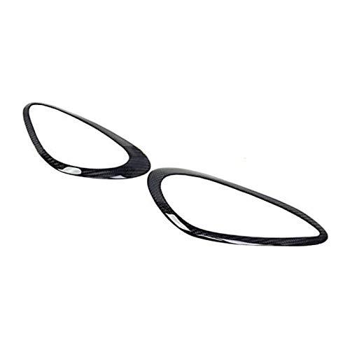 HTSM Car Headlight Eyebrows Sticker 2Pcs Real Carbon Fiber Headlights Eyebrows Eyelids Cover for Cayenne 958 2011 2012 2013 2014 2015