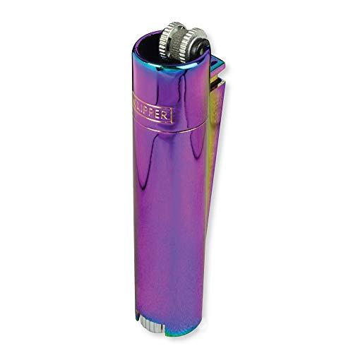 Clipper Metall Gas-Feuerzeug (Rainbow) mit SOFORTGRAVUR +VORSCHAU: Gravur inklusive (Gasfeuerzeug, nachfüllbar)