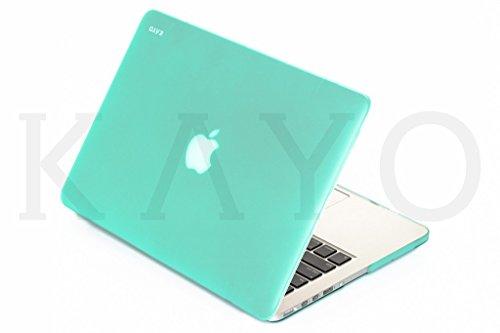 KAYO MacBook Pro 13Retina Caso, Essentials Suave Suave Silky Touch–Carcasa para Edad Macbook Pro de 13,3con Pantalla Retina (Modelos: A1502y A1425y A1502) -Carribean Verde