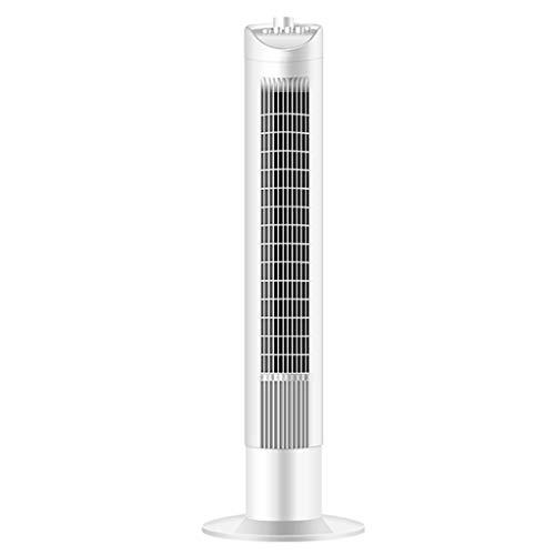 NBgy airconditioner, kan de kop schudden, verticale vloerventilator voor airconditioning, zonder instelling van de bladventilator met drie snelheden, wit, 90,5 × 19,5 × 21,5 cm