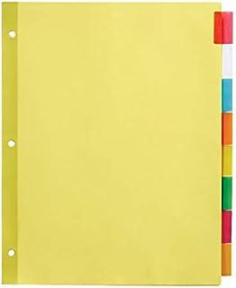 Office Depot Intercalaires insérables avec onglets, 21,6 cm. x 27,9 cm, couleurs assorties, 8 onglets, lot de 4, 11282