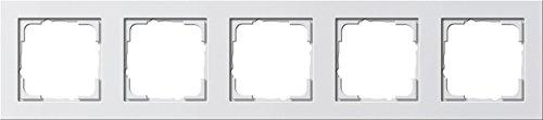 GIRA Serie Standard 55 - reinweiß glänzend (021529) Rahmen 5f reinweiß E2