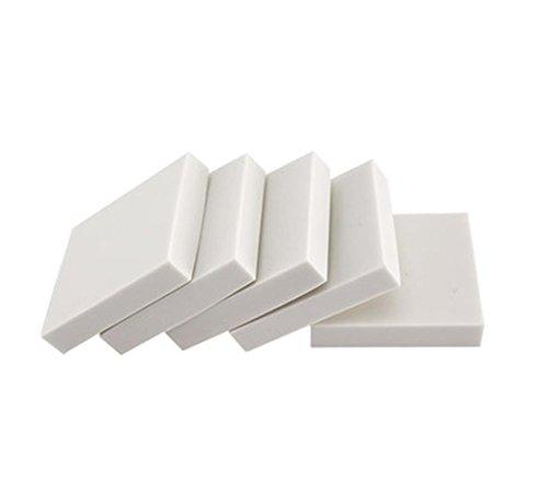 e-Craft Schnitzen Gummiblock Stempel - wie Gummimaterial - 5 Stück - Weiß 9 Styles - 1.9 × 1.9 × 0.39 Zoll