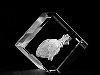 ASFOUR CRYSTAL 1161-50-71 2 L x 2 H x 2 W in. Crystal Laser-Engraved Heart Medical Miscellaneous Laser-Cut