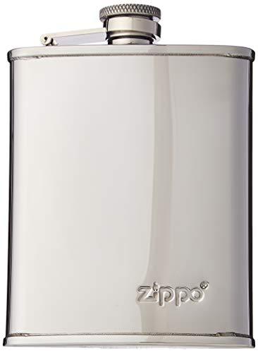 Zippo gepolijste heupfles voor heren, zilver (zilver), 2 x 13 x 9,5 cm (B x H x D)