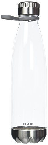 IBILI 720610 Botella Aqua, Plastic Transparente, 9 x 9 x 30 cm