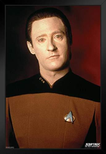 Pyramid America Star Trek The Next Generation Data Portrait TV-Show, gerahmtes Poster, 35,6 x 50,8 cm, Schwarz