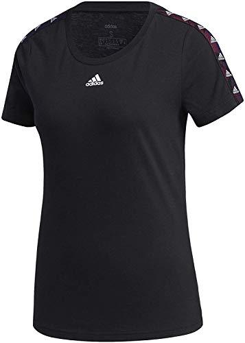 Adidas W E Tpe T Maglia manica corta, Black, S Donna