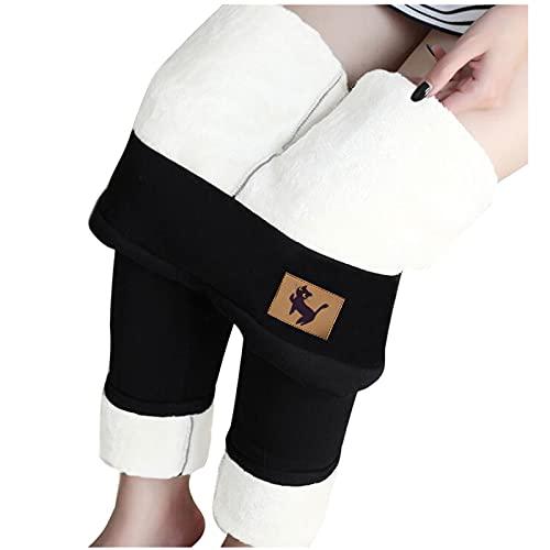 Leggings forrados para mujer, pantalones térmicos de invierno, leggings de cintura alta, leggins de invierno opacos, pantalones largos de forro polar