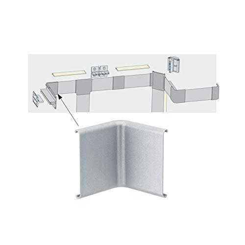 Paulmann 70272 Duo Profil Inside Corner für den einfachen Anschluss von Profilen in Raum-Innenecken 2er Pack Duo Profil Zubehör Alu matt Kunststoff
