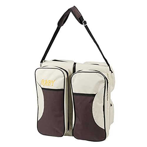 Diaper Bag Backpack, Baby Nappy Changing Bags Multifunction Travel Back Pack with Changing Pad & Stroller Straps, Large Capacity, Waterproof and Stylish (White)