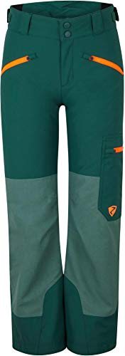 Ziener Kinder AMIRO Junior Skihose, Winterhose | Wasserdicht, Winddicht, Warm, Spruce Green Washed.neon Orang, 104