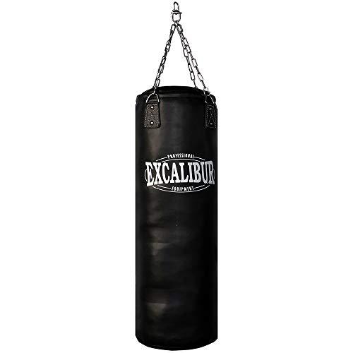 Handgefertigter Boxsack Excalibur PRO – Extrem Robust, doppelte Nähte, inklusive Kettenaufhängung, Drehwirbel, 120cm