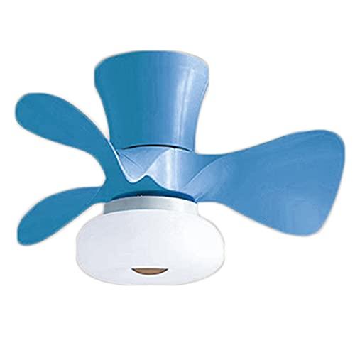 RUIXINBC Ventilador De Techo con Iluminación Y Control Remoto, Lámpara De Techo LED Moderna Ventilador Invisible Creativo 30W Lámpara De Techo De Sala De Estar Regulable,Azul