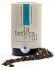 LA TETERA AZUL Premium zwarte thee met cacao, kokos en macadamia noten.Thee en chocolade.Bulkpot van 115 gram voor 38 infusies.