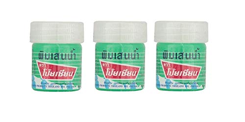 (Pack of 3) Poy Sian Pim-saen Balm Oil Aroma Refresh Inhalant Gel Health & Personal Care Products Thai Herbal Herb 8cc