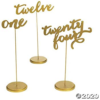 Calligraphy Sticks Including Extra Thick Solid Base Numbers 13-25, 10 inches 25cm 13-25 Pack EcoBoo Elegant Wooden Wedding Table Numbers Reception Party Home Decoration Centerpiece
