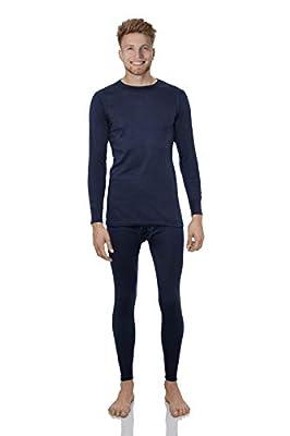 Rocky Thermal Underwear for Men Lightweight Cotton Knit Thermals Men's Base Layer Long John Set (Navy - Lightweight (Cotton) - X-Large)
