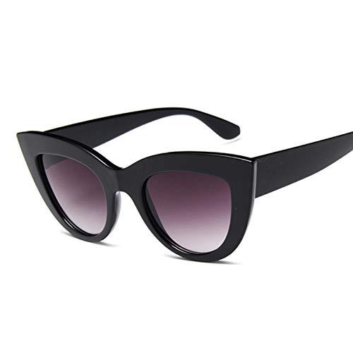 ShZyywrl Gafas De Sol Gafas De Sol De Moda De Ojo De Gato para Mujer, Gafas Negras Vintage, Gafas De Sol para Mujer, Gafas Uv400, Sombras,