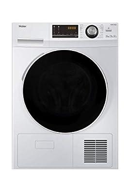 Haier HD80-A636 Freestanding Heat Pump Tumble Dryer, 8kg Load, White