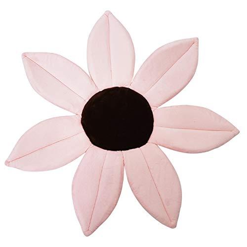 PetKids - Alfombrilla de baño acolchada para bebé con diseño de flor de pétalos y forma de bebé (70 x 2 cm)