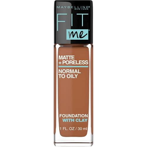 Maybelline Fit Me Matte + Poreless Liquid Foundation Makeup, Coconut, 1 fl. oz. Oil-Free...