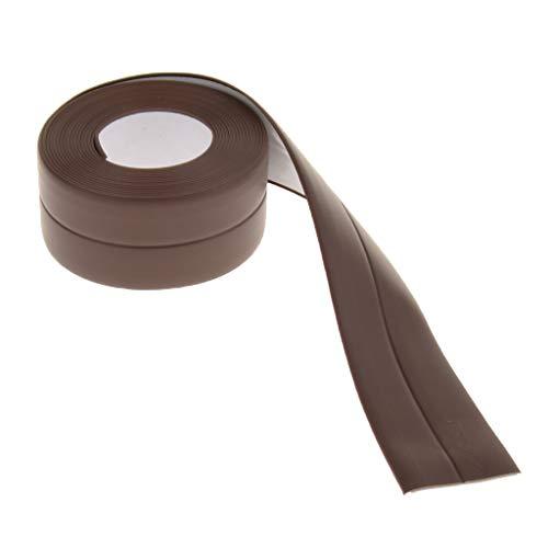 Wasserdicht Selbstklebende Dichtband 38mm breit 3,2m lang Klebeband für Badewanne/Gasherd/Waschbecken - Braun