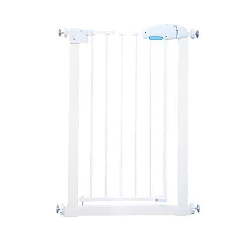 Treppentor Extra Schmal 55-60cm Pet Gate Zwei-Wege-Öffnung Für Wohnzimmer Küche, Weiß