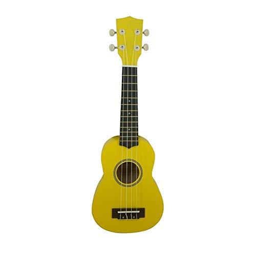 21-Zoll-Studentin Hawaii Gecko Ukelele Fabrik Preis Mahagoni-Sopran-Gitarre 4 String Ukulele mit Bag Capo-Tuner ( Color : Yellow )
