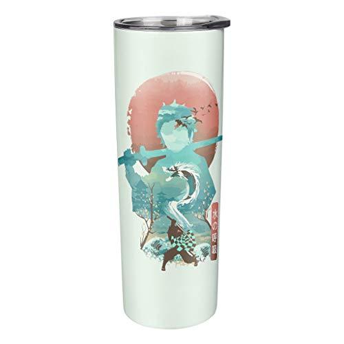 Kimetsu no Yaiba Kamado Tanjirou Mug with Splashproof Lid and Straw Vacuum Insulated Stainless Steel Travel Mug 3D Pattern Coffee Mug Travel Mug 100% Tight Insulated Cup Holds White 600 ml (20 oz)